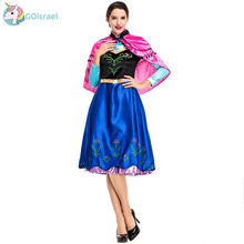 Cosplay anime costume fairy tale dress stage costume Halloween princess dress Ice Princess service party holiday