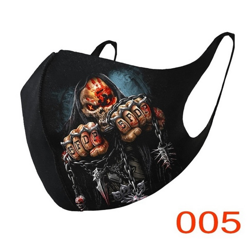 Adult Face Covers Fashion Unisex Cosplay Breathable Cotton Fabric Mouth Cover Cycling Mascarillas Reusable Facemaks Cosplay 2020 5
