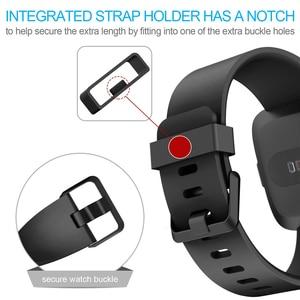 Image 3 - Acessórios de pulseira para fitbit versa 2, pulseira de silicone macio à prova dágua pulseira de relógio para substituição para fitbit versa/versa 2