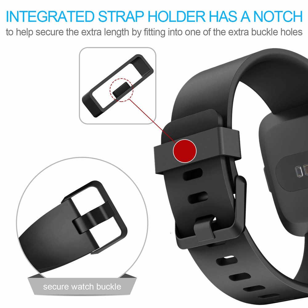 Correa de repuesto para Fitbit Versa/Versa 2, silicona suave, resistente al agua, accesorios de pulsera, correa de reloj para Fitbit Versa 2