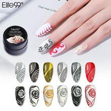 Elite99 5 мл 3D гель-краска без протирания лак для ногтей для рисования ногтей Скульптура гелевая краска для ногтей маникюр впитывающий УФ свето...