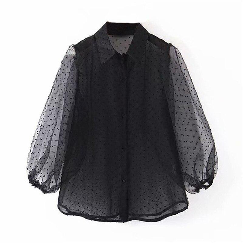 Aachoae-Dot-Embroidery-Women-Organza-Blouse-2020-Lantren-Sleeve-Black-See-Through-Chic-Top-Casual-Turn.jpg_640x640