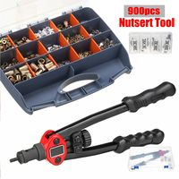 M3 M12 Blind Hand Rivet Nuts Threaded Insert Rivet Tool Riveter Guns Rivnut Nutsert Insert Accessories Tool Set 900/1000/1200Pcs