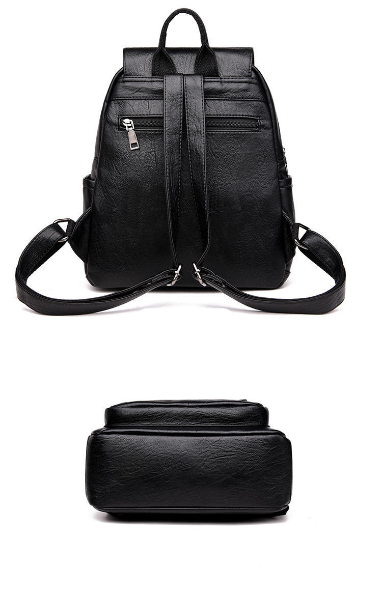 Ha1293dbfaf24439397b114f052c941c4z - Women Backpack PU Female backpacks Vintage Leather School Bags Large Capacity School Bag for Girls Double Zipper Shoulder Bags