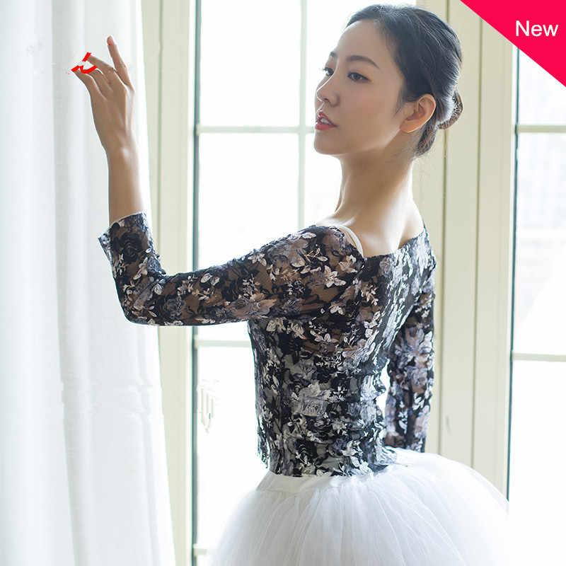 Sterne Gleichen Stil Ballett Tanz Praxis Anzug Gedruckt Mesh Bluse Gaze Klassischen Tanz Overall Ballett Tiara Dance Top