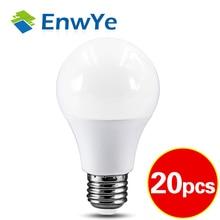 20szt LED 3W 6W 9W 12W 15W 18W 20W 24W 220V E27 lampa z żarówką LED Smart IC prawdziwa moc zimna biała/ciepła biała lampa
