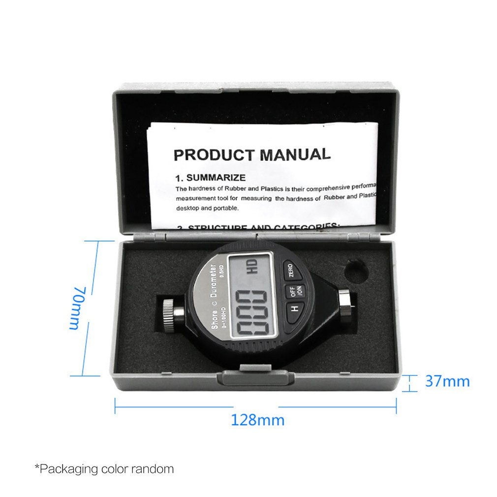 Digital Shore Hardness Meter Durometer Digital Hardness Tester Shore 0-100H A/C For Plastic Leather Rubber Multi-resin Sale
