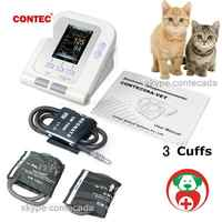 US veterinary 3 free cuffs Digital Blood Pressure Monitor Color LCD Display NIBP CONTEC08A-VET
