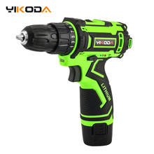 YIKODA 12V Electric Screwdriver Rechargeable Lithium Battery Parafusadeira Furadeira Cordless Drill DIY Power Tools