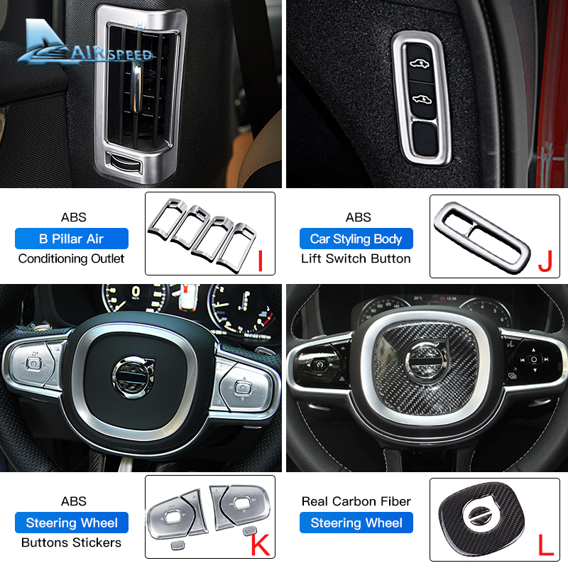 lowest price for Volvo xc90 xc60 s90 v90 xc40 s60 v60 three-color strip decorative car stickers auto parts car Accessories