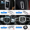 AIRSPEED Chrome ABS Stainless Steel for VOLVO XC90 Accessories 2015 2016 2017 2018 2019 Car Decoration Sticker Interior Moulding promo