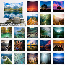 Large Tapestry Beauty Sea Beach Landscapes Wall Hanging Tapestries Home Decor Rectangle Bedroom Wall Art Tapestry wall hanging art decor halloween night print tapestry