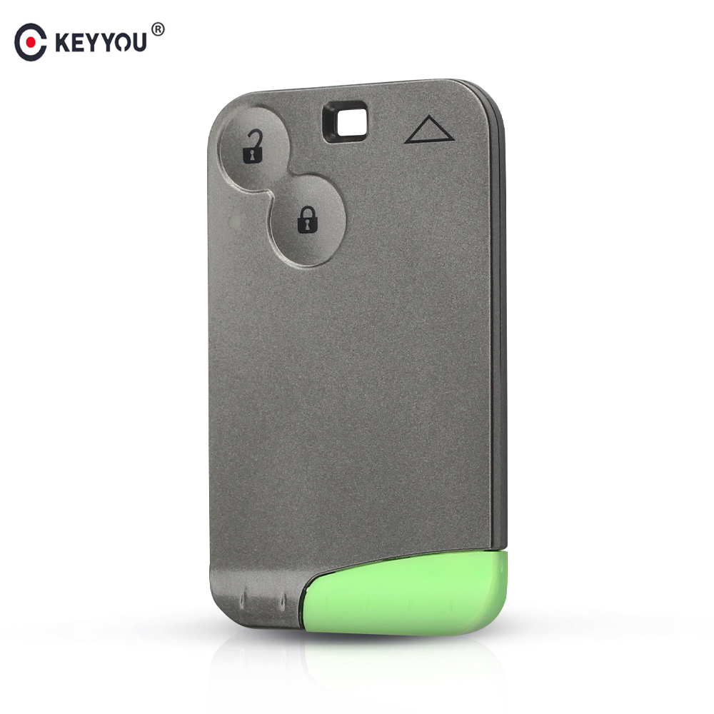 KEYYOU New Replacement 2 Button Remote Key Card Shell Case Smart Card Key Case For RENAULT Laguna