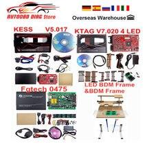 Лучшая онлайновая V2.53 ЕС красный Kess V5.017 OBD2 менеджер Тюнинг Комплект KTAG V7.020 4 светодиодный рамка фонового режима отладки Kess V5.017 FGTECH 0475 k-tag V2.25