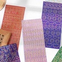 1 pçs brilhando momento série decorativo pvc laser adesivos scrapbooking vara etiqueta diário papelaria álbum fita arco adesivo