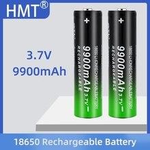 2/4/8pcs סוללה + 4 חריצים 3.7V 18650 USB מטען 3.7V 18650 9900mAh נטענת סוללה