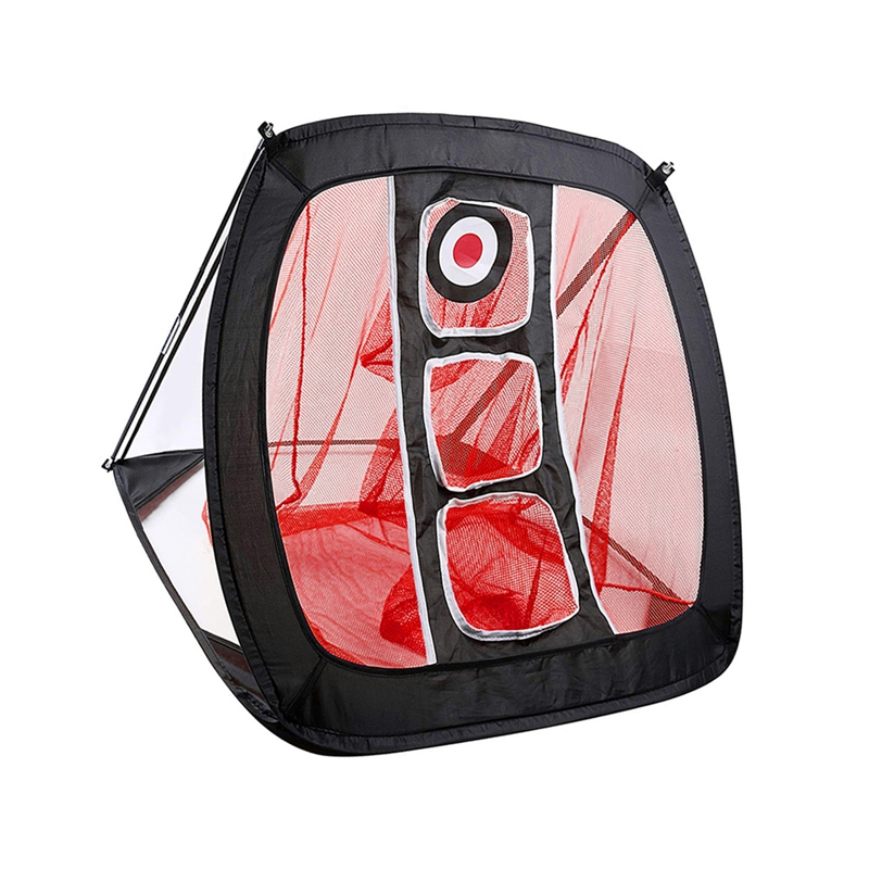 82 * 72 * 56cm Portable Golf Practice Net Golf Indoor Outdoor Chipping Pitching Cages Golf Practice Training Aids Mats