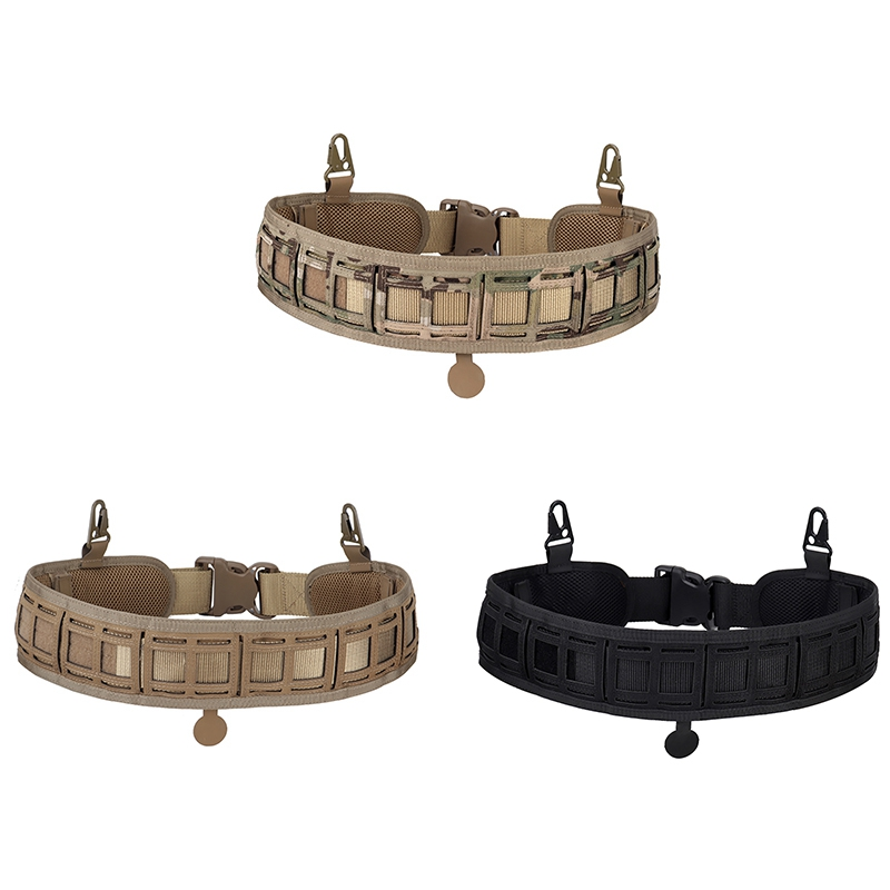 Ha12a481fdce2453e9060984a82811e66Z - Tactical Waist Belt Water Resistant Adjustable Training Waistband Support For Molle System