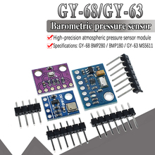 Free Shipping 1pcs GY-68 BMP180 Digital Barometric Pressure Sensor Board Module compatible with BMP085 For Arduino стоимость