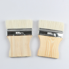 2PCS High Quality Wooden Handle Wool Brush for Wall Watercolor Acrylic Oil Painting Paint Brush Home Crevice Cleaning Brush