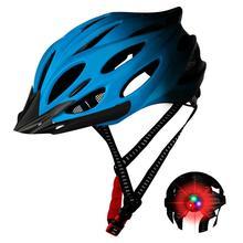 Casco de bicicleta de montaña con luz trasera casco de bicicleta Unisex casco de bicicleta MTB ultraligero de carretera casco de bicicleta de cross moldeado