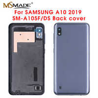 Original For Samsung Galaxy A10 A105 A10 M10 A10S Back Battery Cover Rear Door Housing Glass Panel Replacement Part