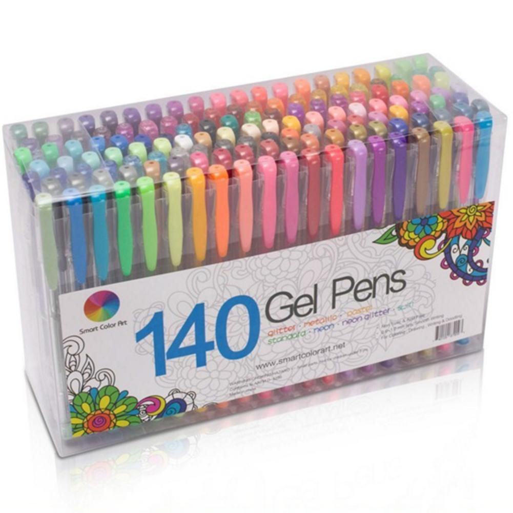 Ballpoint Pens 12/24/36/48 Colors Gel Pen Refills Glitter Coloring Drawing Painting Craft Marker Office School Supplies Gel Pens