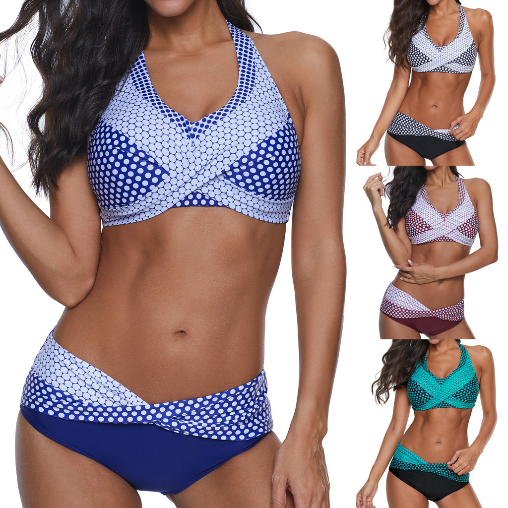JAYCOSIN Fashion Women Sexy Floral Print Two Piece Push-Up Swimsuit Comfortable Bikini Set Swimwear Swimsuit Beachwear 1212#10