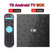 T9 Android 9.0 Smart TV Box RK3318 4K HD 4GB+32GB 64GB 2GB+16GB Set Top Box 2.4GHz WiFi BT 4.1 Google Play Netflix media player цена