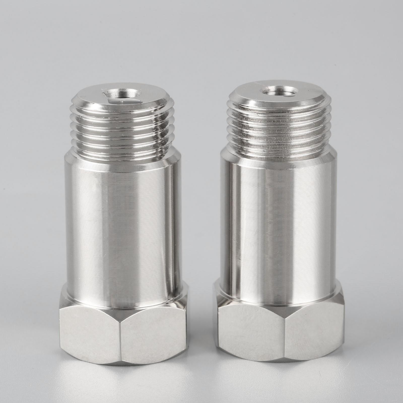 2Pcs Oxygen Sensor Lambda O2 45mm M18x1.5 Extension Extender Spacer Adapter Exhaust Steel and Zinced Oxygen Sensor Spacer