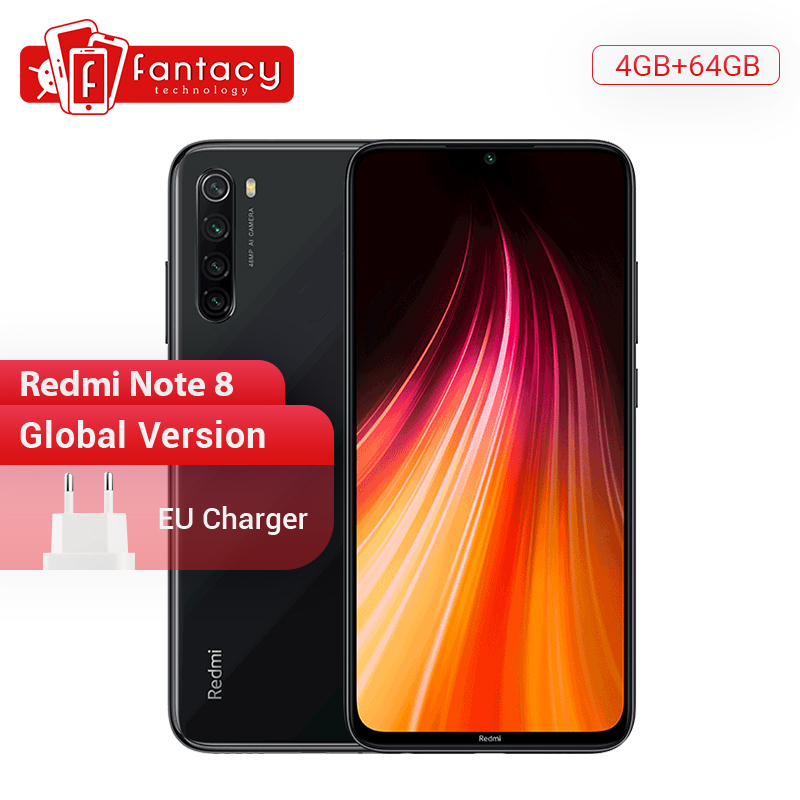 In Stock Global Version Xiaomi Redmi Note 8 4G 64G 48MP Quad Camera Smartphone Snapdragon 665 Octa Core 6.3
