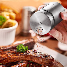 Spice Storage Box Stainless Steel Barbecue Kitchen Cooking Tool Condiment Bottle Accessories