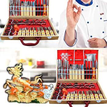 HOT 80pcs/ Set Carving Tools Decorators Fruit Vegetable Garnishing Cutting Engraving Peelers Cutters Tool Sets TI99
