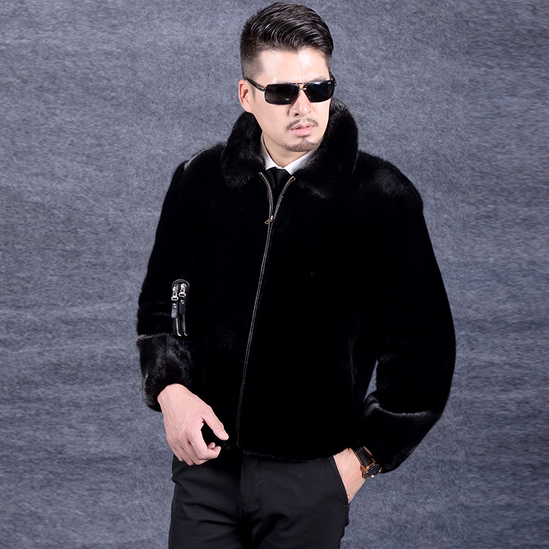 Real Fur Coat 2020 Real Mink Fur Coat Winter Jacket Men Real Shearling Warm Outwear For Mens Clothing Veste Homme DZ5207 YY996