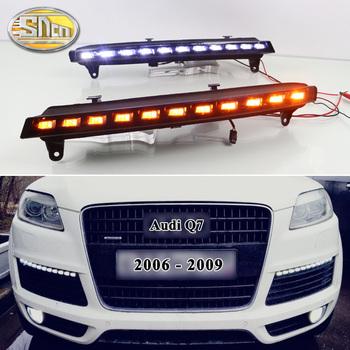 2 sztuk dla Audi Q7 2006 2007 2008 2009 żółty włącz funkcja sygnału samochód DRL wodoodporna 12V światła do jazdy dziennej LED żarówka do lampy przeciwmgielnej tanie i dobre opinie sncn CN (pochodzenie) Do światła dziennego For Audi Q7 2006-2009 12 v 1 9kg LED Daytime Running light 12months Guangdong China