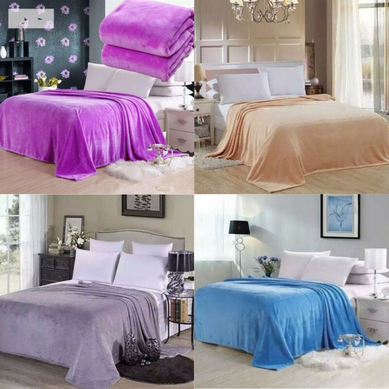 New Super Soft Warm Solid Warm Micro Plush Fleece Blanket Throw Rug Sofa Bedding Blankets 50x70cm