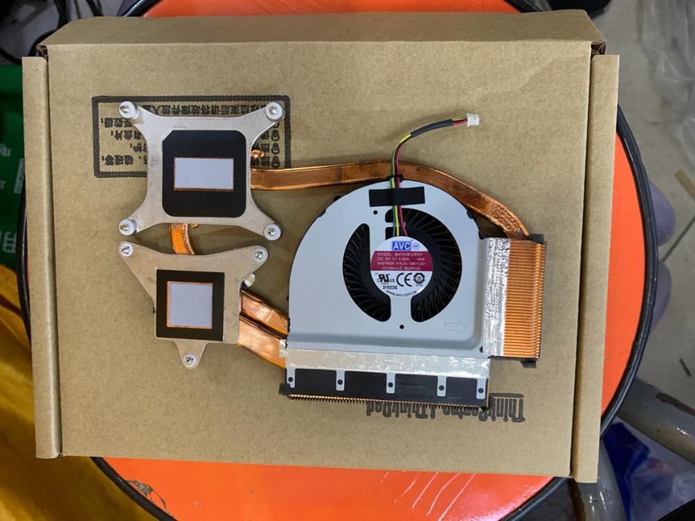 New CPU Cooler Fan & Heatsink For Lenovo ThinkPad W530 04W3627 04W3626 0B57854 Radiator BATA0812R5H -004