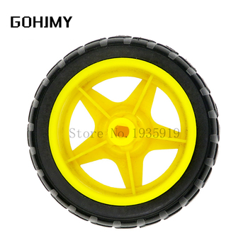 TT Motor Motor Wheels Smart Car Chassis Robot Remote Control Car Wheels For Arduino Diy Kit GOHJMY image