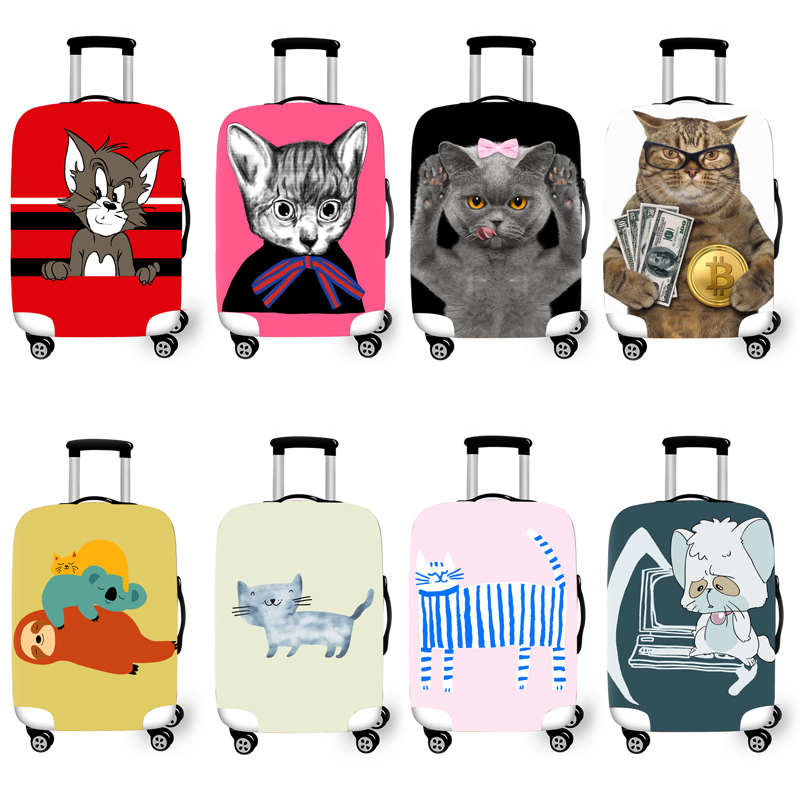 Elastic Luggage Protective Cover Case For Suitcase Protective Cover Trolley Cases Covers 3DTravel Accessories Cat Pattern T10001