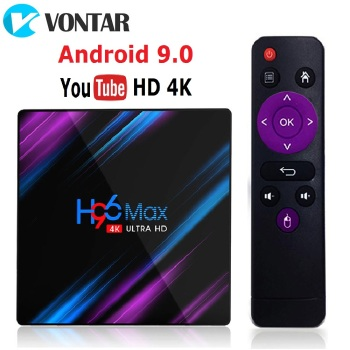 2020 H96 MAX RK3318 Dispositivo de TV inteligente Android 9 9,0 4GB...