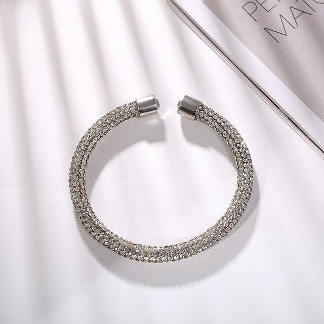 MAIKALE brillant haute qualité breloque femmes noir strass cuivre plaqué Bracelet bijoux Simple adapté pour envoyer un cadeau dami
