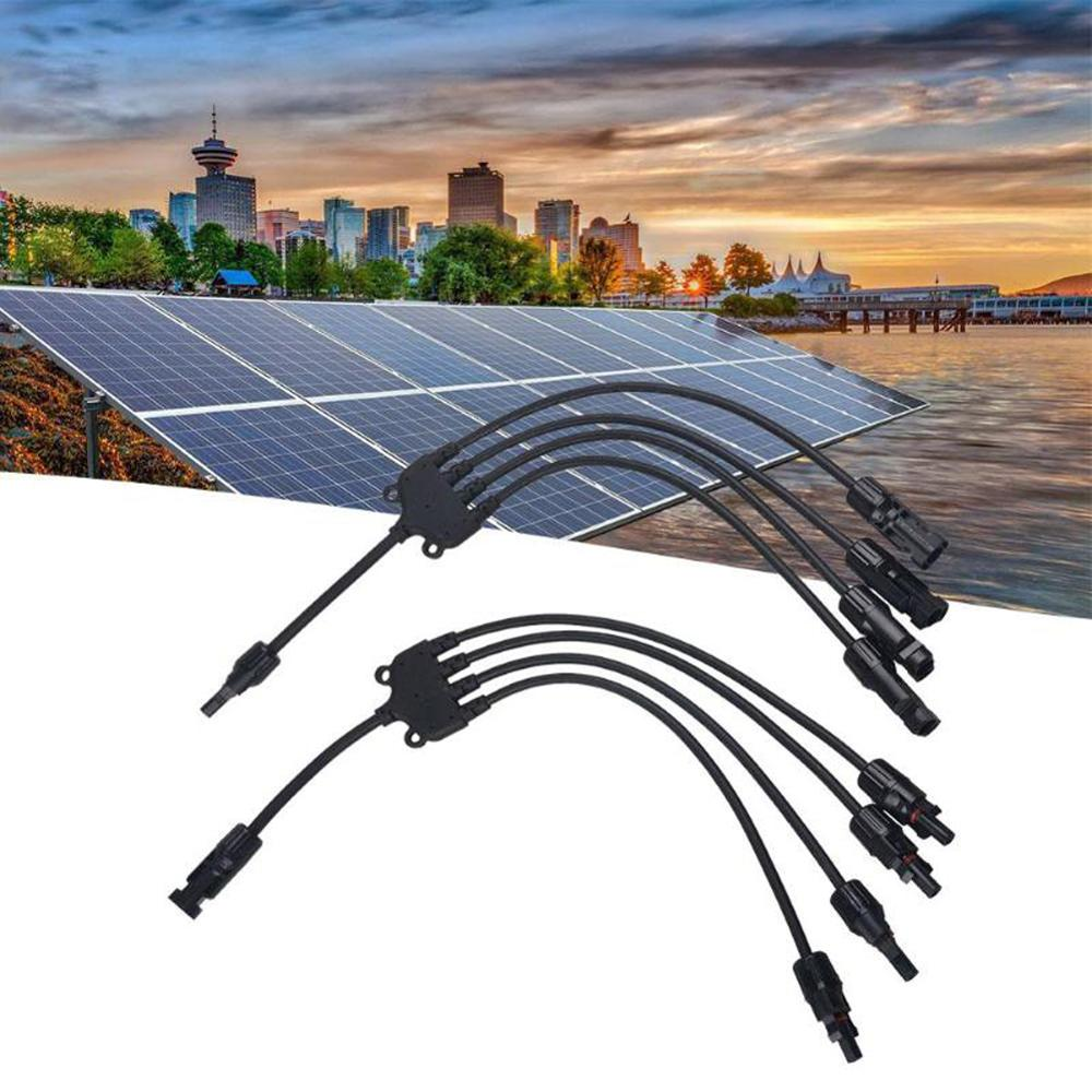 1 Set MC4 Solar Style Y Branch Adapter Connectors 1 To 4 Male And Female Panel Cable Photovoltaic Connector Adapter Dropshipping