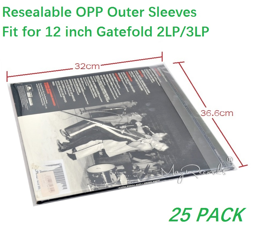 25 Resealable 4 7 Mil Plastic Vinyl Record Outer Sleeves for GATEFOLD 2LP 3LP