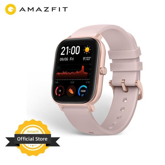 Умные часы Amazfit GTS, 5 АТМ, водонепроницаемые умные часы для плавания, 14 дней без подзарядки, управление музыкой
