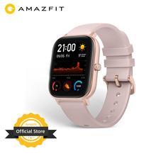 Stokta küresel sürüm yeni Amazfit GTS akıllı saat 5ATM su geçirmez yüzme Smartwatch 14 gün pil müzik kontrol cihazı