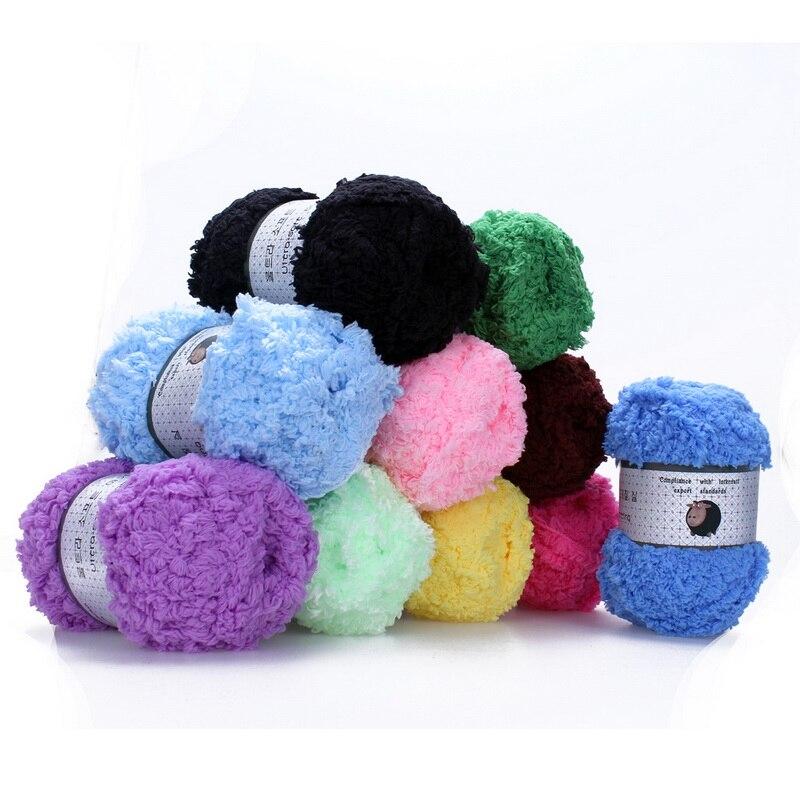 Crochet Yarn DIY Knitting Cashmere Yarn Soft Warm Baby Yarn For Hand Knitting Supplies Hand- Wool Coral Cashmere Plush