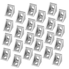 50pcs Aluminum Alloy Angle Bracket Joint Corner Angle L Bracket Fastener for T Slot Aluminum Extrusion Profile(China)