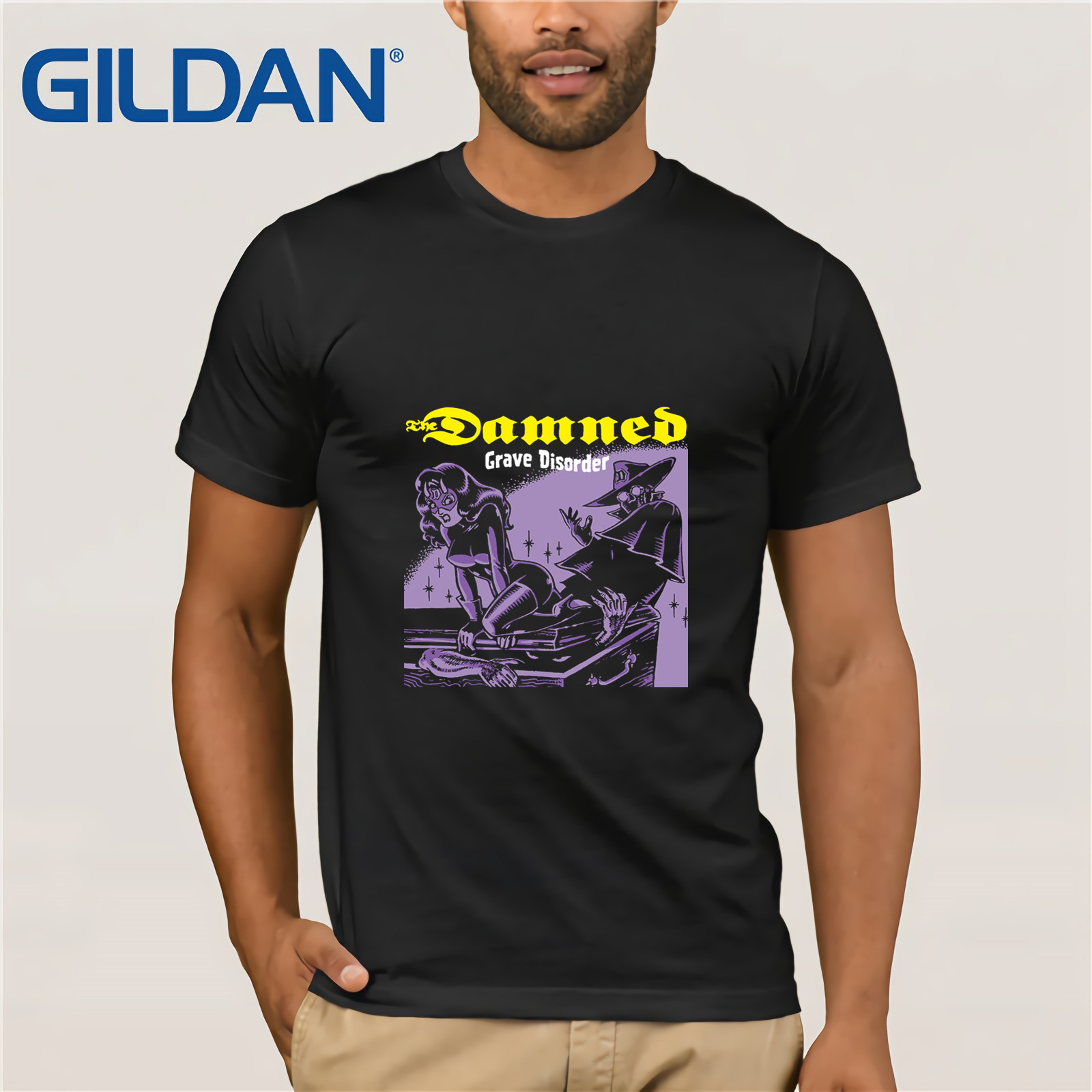 The Damned Grave Disorder English Punk Rock Band Men/'s Black T-Shirt Size S-3XL