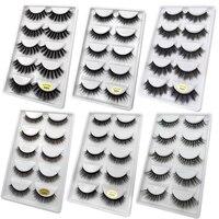 800 boxes Mixes natrual 3d mink lashes false eyelashes bulk fluffy mink eyelashes lash kit 800 packs makeup maquiagem for G size