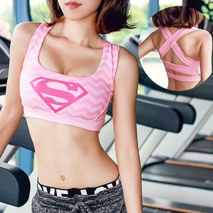 Dibujo 3D del Capitán América Superman Batman mujer deportes Sujetador Fitness Yoga sujetadores Tops ropa interior correr Deporte Sujetador Deportivo